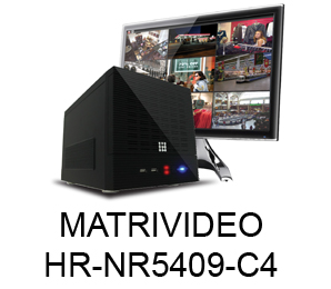 MATRIVIDEO  HR-NR5409-C4  9 KANAL CUBE NVR 4 HDD SLOT
