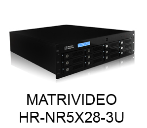 MATRIVIDEO  HR-NR5X28-3U  128 KANAL NVR 12 HDD SLOT